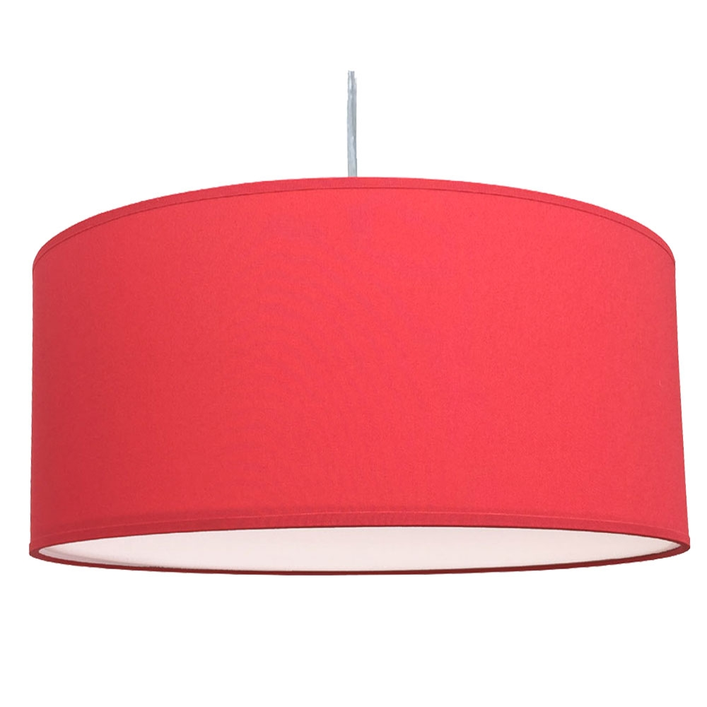 Drum Ceiling Shade Warm Red